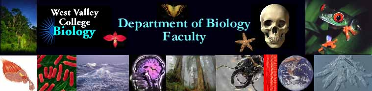 Biology Department - Faculty - West Valley College
